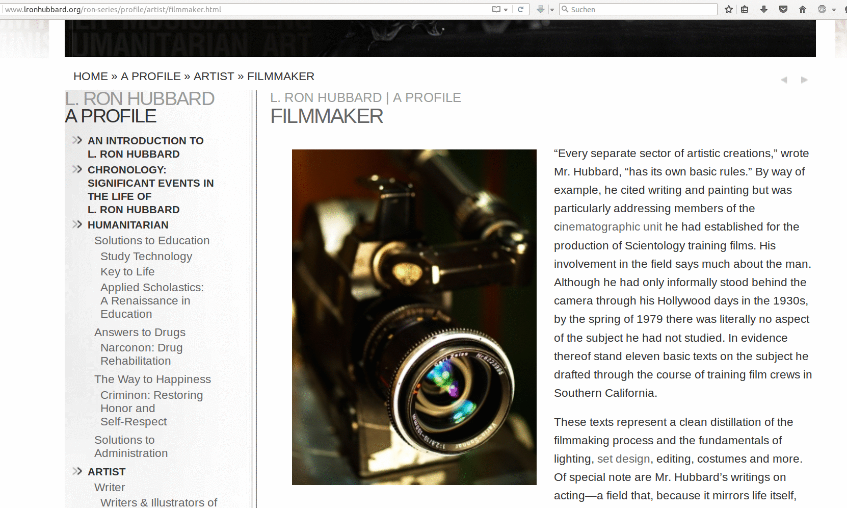 Profile - Filmmaker